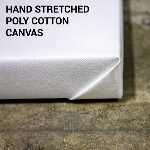 Hand Stretched Poly Cotton Canvas