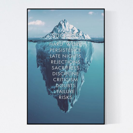 Success is an iceberg poster