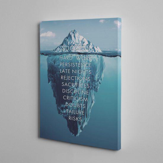 Success is an iceberg canvas