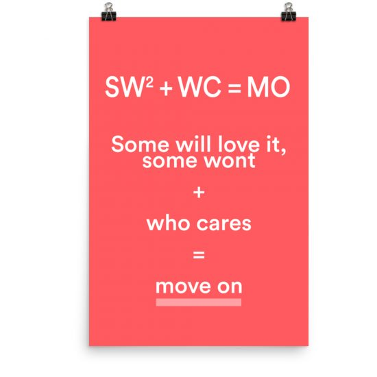 Some will love it, some wont poster